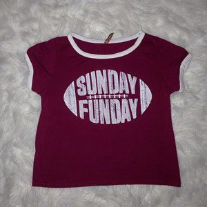 "Women's ""Sunday Funday""  Crop Top"